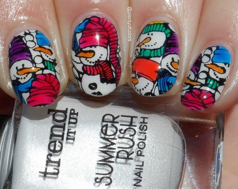 Schneemänner nail art by Plenty of Colors