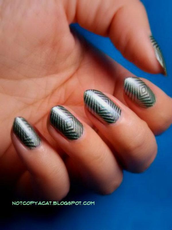 Geometric nail art by notcopyacat