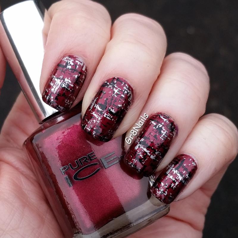 Texture nail art by Gr8Nails