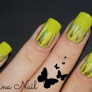 Green Nail nail art by Irina Nail