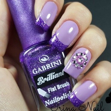 French purple nail art by Irina Nail
