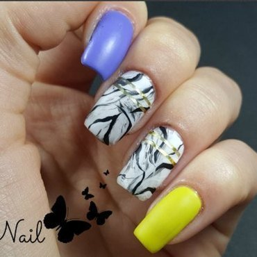 Granite nails nail art by Irina Nail