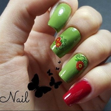 Gabrini Summer Edition M 109 and Oriflame, TheONE Long Wear London Red Swatch by Irina Nail