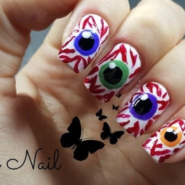 Eyeball nails nail art by Irina Nail