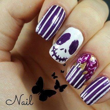 Purple and white halloween nails nail art by Irina Nail