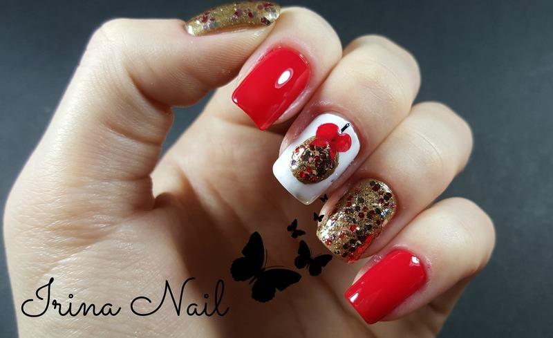48+ Red Nails Christmas Gif