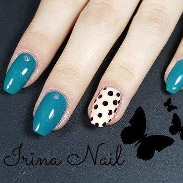 Turquoise nails nail art by Irina Nail