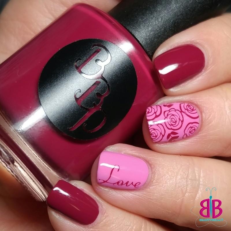 Roses nail art by Bellini Solis