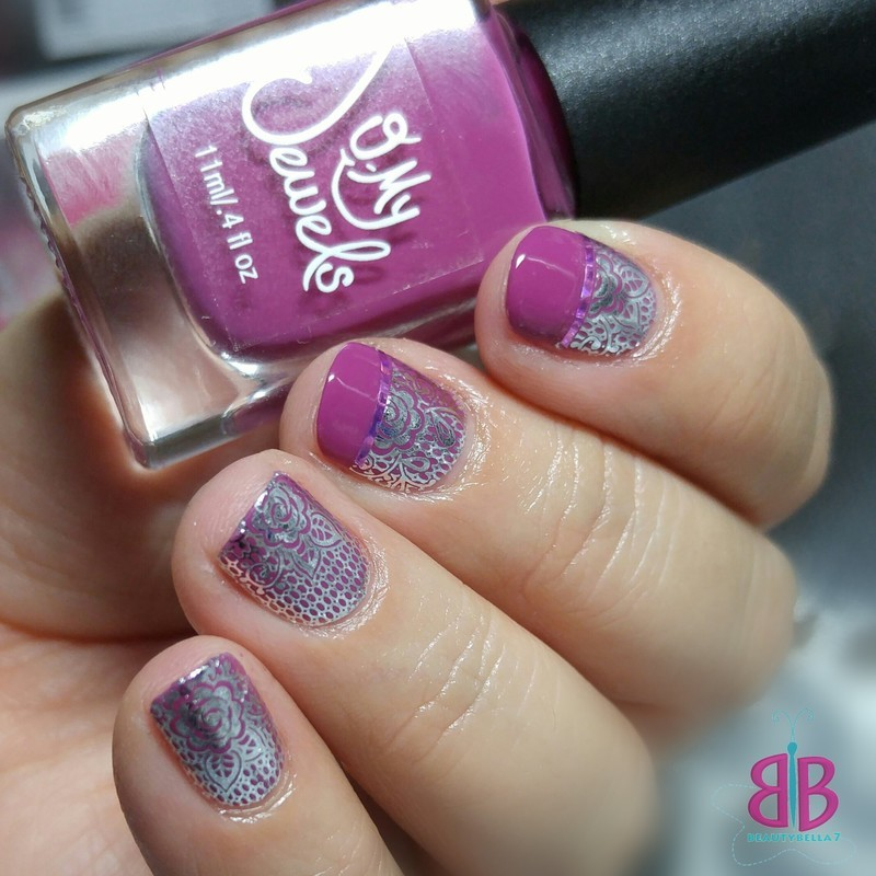 Chrome Lace nail art by Bellini Solis