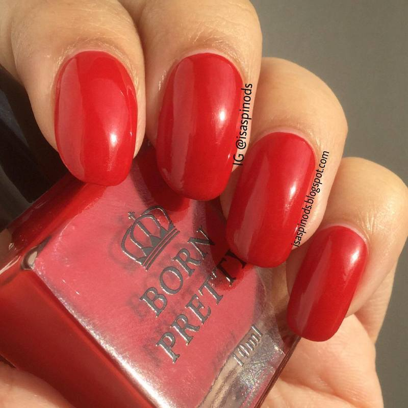Born Pretty Store BPR002 Red Swatch by Isabel