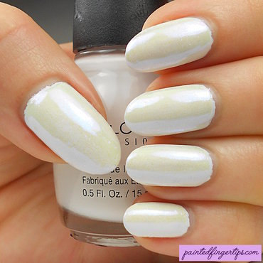 Multichrome powder over white nail art by Kerry_Fingertips