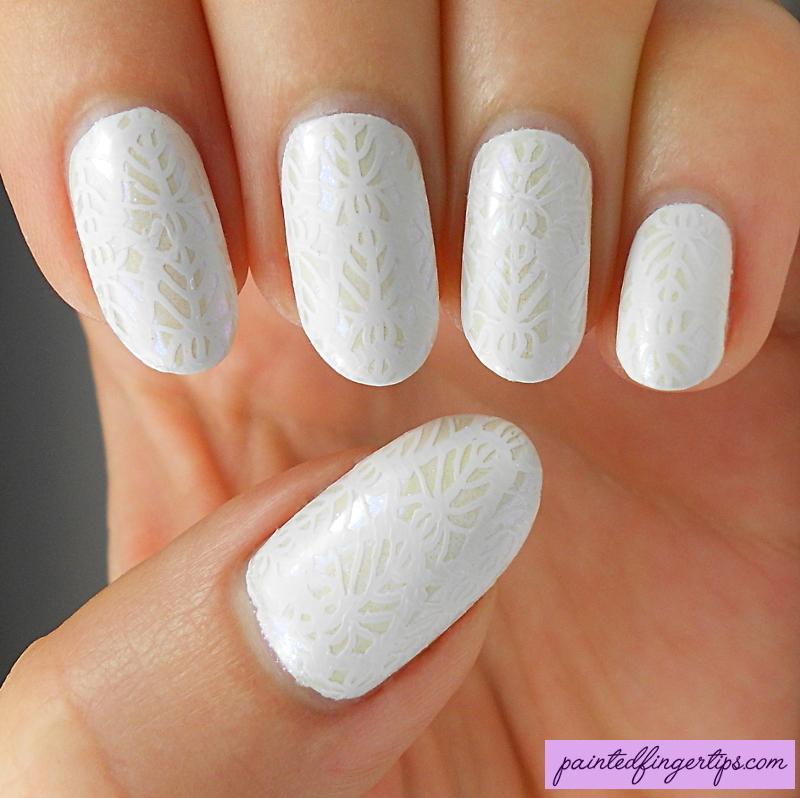 Bridal stamping nail art by Kerry_Fingertips