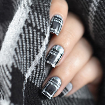 Tartan nail art nail art by Marine Loves Polish