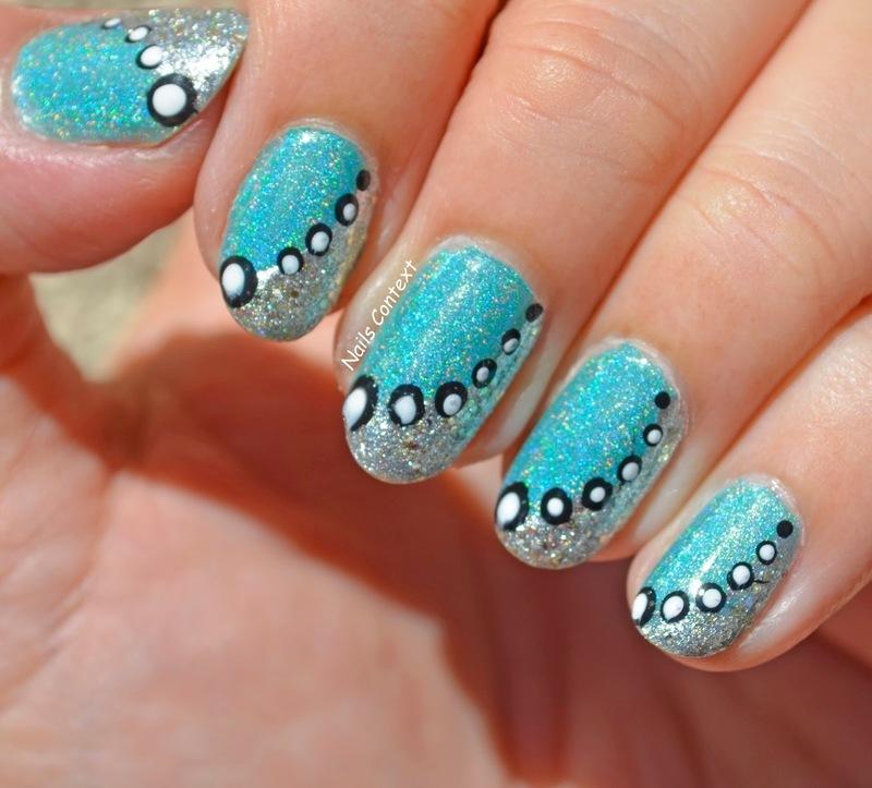 Winter Glam Nails nail art by NailsContext