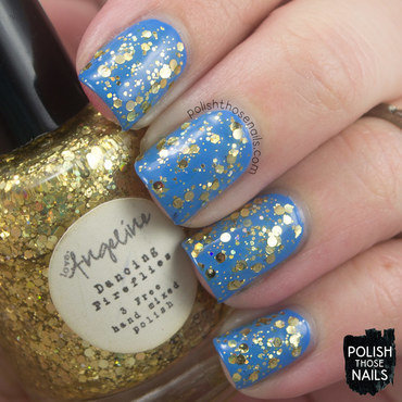 Love, Angeline Dancing Fireflies and Zoya Dory Swatch by Marisa  Cavanaugh