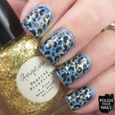 Dancing Leopard nail art by Marisa  Cavanaugh
