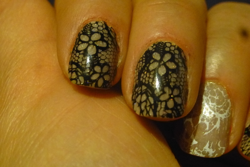 Bow warm nail art by Barbouilleuse
