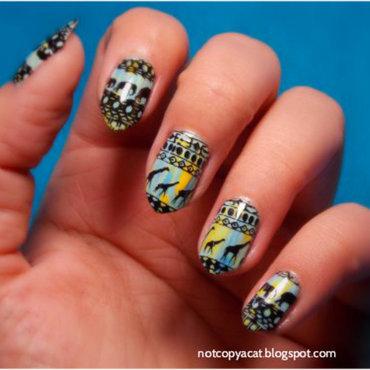 African nails nail art by notcopyacat