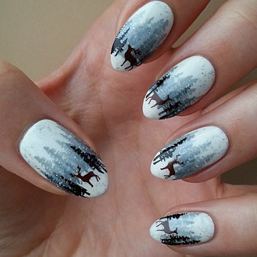 #CREATIVENAILPARTY - Week 2 - Deer nail art by Mgielka M