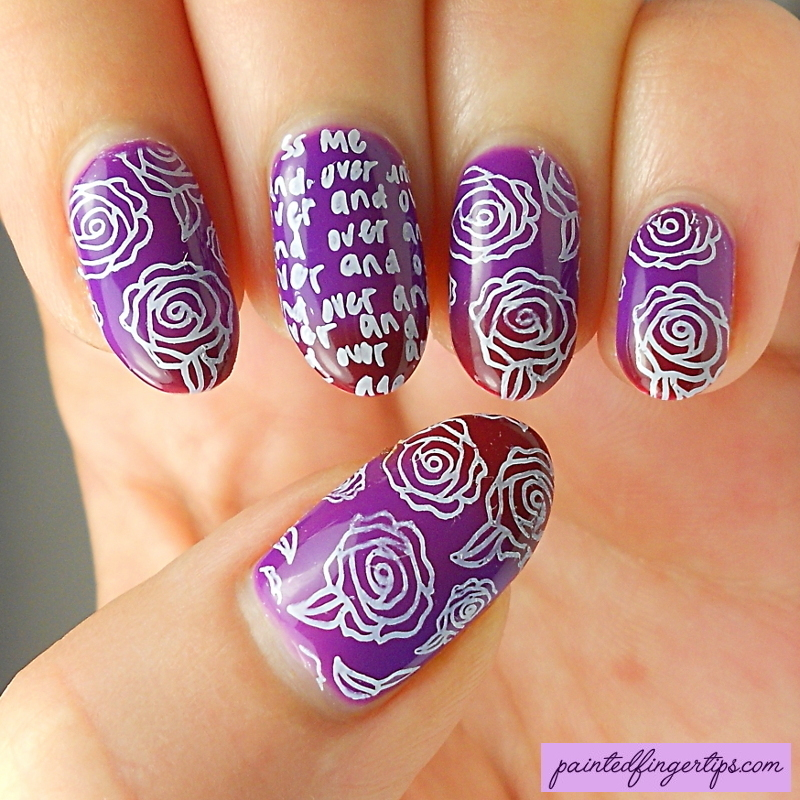 Valentine's Day Roses nail art by Kerry_Fingertips
