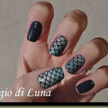 Mermaid manicure nail art by Tanja