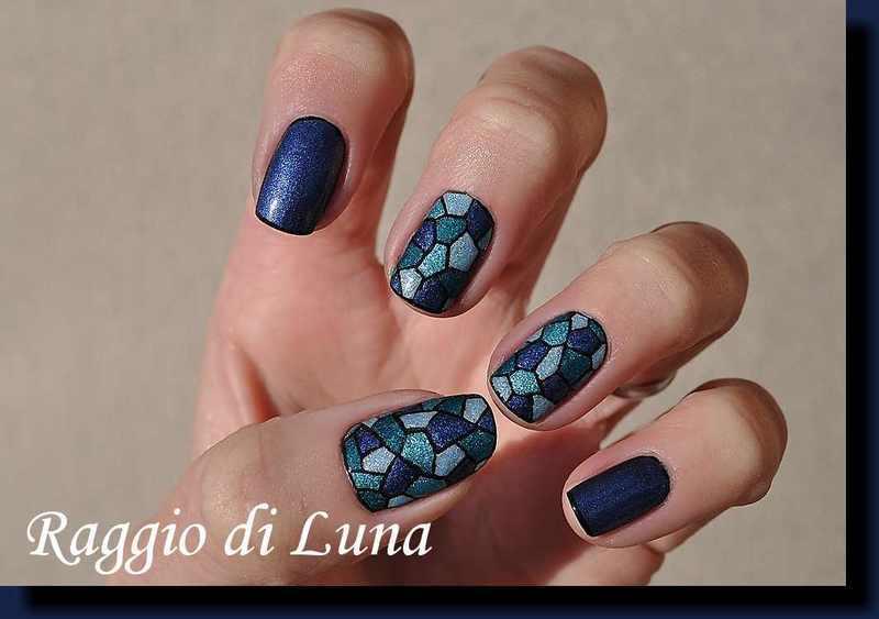 Mosaic for Jin nail art by Tanja