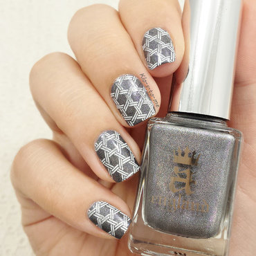 Hexagon nail art by klo-s-to-me