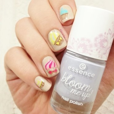 Cupcakes nail art by klo-s-to-me