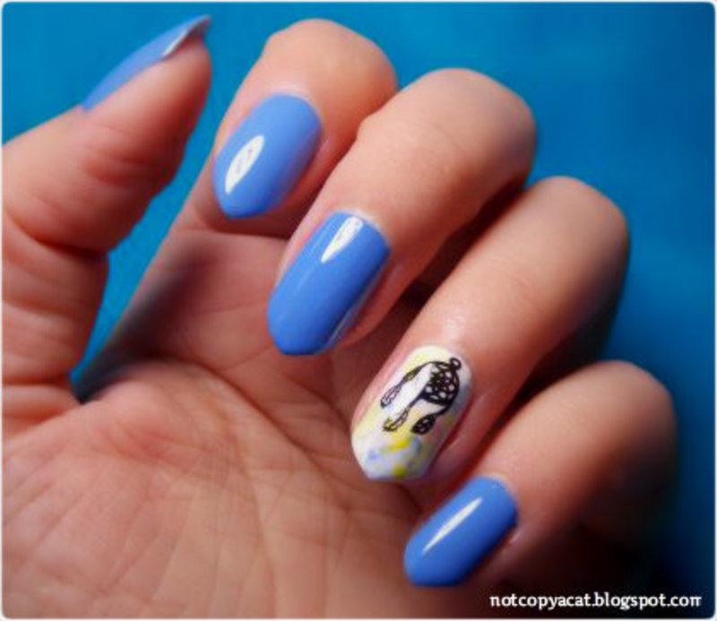 Dreamcatcher nail art by notcopyacat