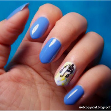 Dreamcatcher nail art by notcopyacat