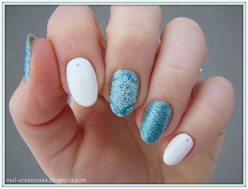Winter colors nail art by Nail Crazinesss