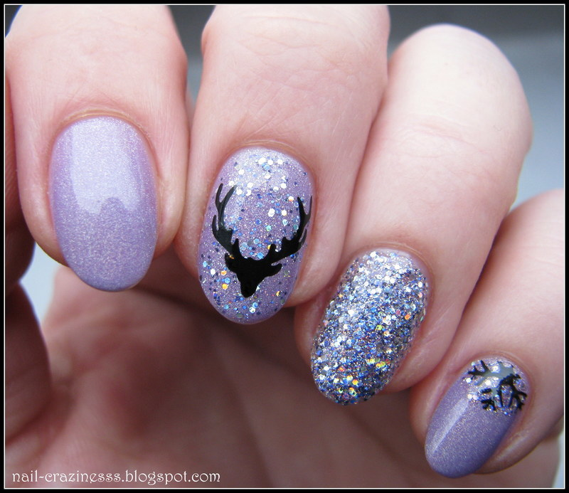 Deer nail art by Nail Crazinesss - Nailpolis: Museum of Nail Art