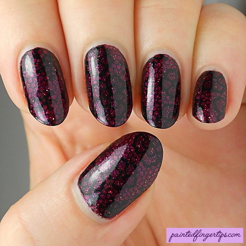 Lacy stamping nail art by Kerry_Fingertips