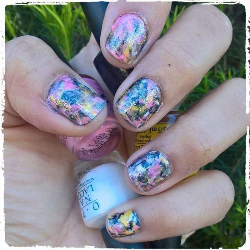Anniversary of #smooshynailsunday nail art by Avesur Europa
