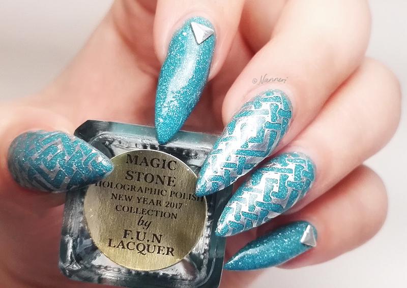 Magic Stone nail art by Nanneri