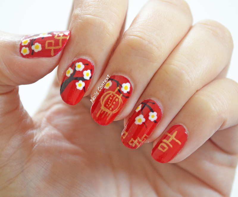 Chinese New Year 2017 nail art by NailsContext