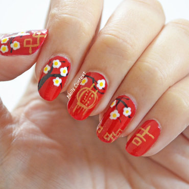 Chinese New Year 2017 nail art by NailsContext