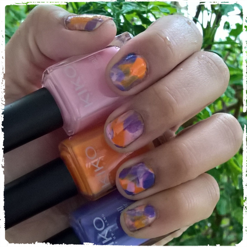 Pink, Orange & Purple #smooshynailsunday  nail art by Avesur Europa