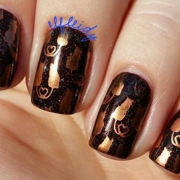 Copper kitties nail art by Jenette Maitland-Tomblin