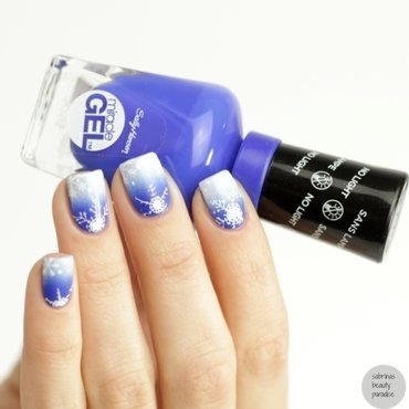 Winter Snowflakes Nailart nail art by Sabrina