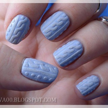 Sweater nails nail art by Jadwiga