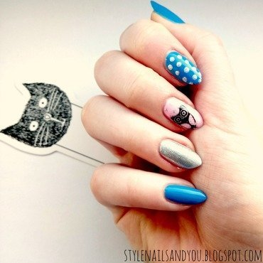 Cute Owl nail art by StyleNailsAndYou