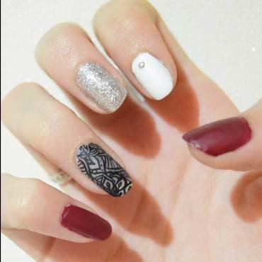 Lace Mandala nail art by i-am-nail-art