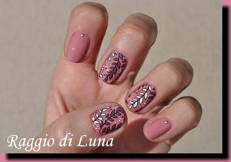 Stamping: Colourful branches nail art by Tanja