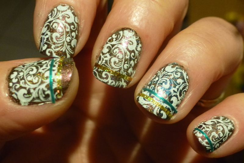 Choco paper nail art by Barbouilleuse