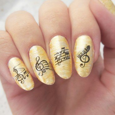 Music nailart nail art by MaliNaila