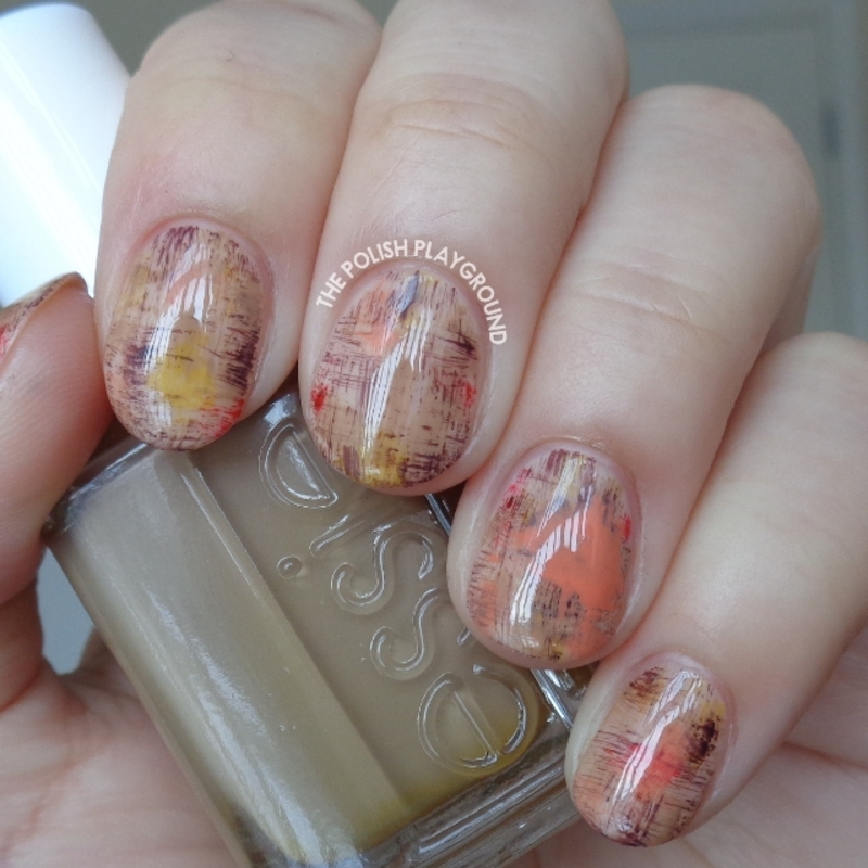 Art Inspired Dry Brush Nail Art nail art by Lisa N