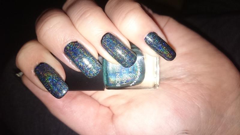 Holo dreamy  nail art by Sabina Salomonsson