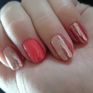 Pink mirror  nail art by Sabina Salomonsson