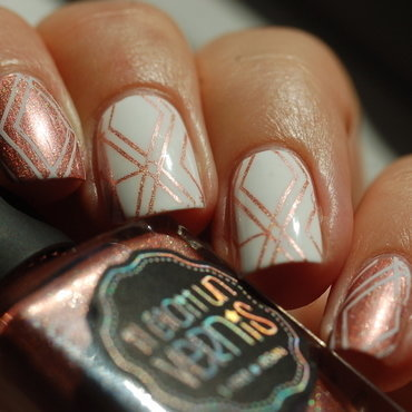 geometric nail nail art by Dorothy NailAssay